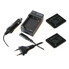 2x Akku und Ladegerät für Panasonic Lumix DMC-FS14 DMC-FS16 DMC-FT25 DMC-FT30