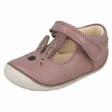 Girls Clarks First Shoes With Rabbit Design Little Glo Dusty Pink UK 2 Infant F