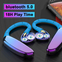 Ear Hook Bluetooth 5.0 Earphones Stereo Bass Headphones Wireless Headset 2