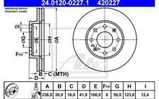 ATE Juego de 2 discos freno 236mm ventilado para RENAULT CLIO BMW X3