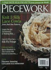 Piecework Nov Dec 2016 Knit 3 Silk Lace Cowls Silk Embroidery FREE SHIPPING sb