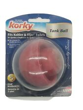 Korky 425BP Toilet Tank Ball, Red. Fits Kohler, Eljer Toilets.  Made In USA.