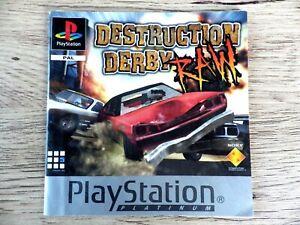 Instrucciones Sólo PLAYSTATION PS1 Destruction Derby Raw Instrucciones Fr