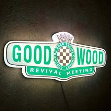 GOODWOOD REVIVAL MEETING BADGE LED LIGHT BOX SIGN GARAGE CLASSIC CAR ROAD RACING