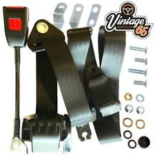 Fiat 124 & Fso 125 Saloon Estate 1966 75 Front 3 Point Automatic Seatbelt Kit