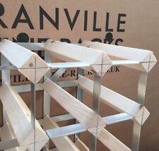 Cranville wine rack storage. Cranville wine rack label protectors.
