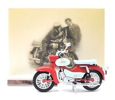 Model Motorcycle Moped 1/24 east germany Simson Star creme red. GDR. Atlas