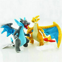 Set 2 Pokemon Mega Evolution XY Charizard Plush Doll Dragon Stuffed Animal Toy