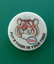 "Retro style Esso  ""Put a tiger in your tank"" petrol/oil badge. 38mm pin badge"