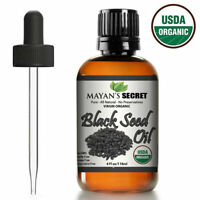 100% Pure Virgin CERTIFED Organic Black Seed Oil Edible Cold Pressed Cumin 4oz
