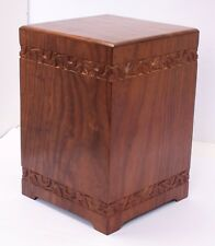 Adult Cemation Ashes Urn, Solid Wood memorial Extra Large Biodegradable Casket