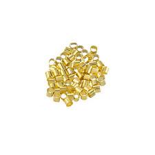 Brass Tube Golden Crimp Beads Jewellery Making 2mm PK50 (L76/2)