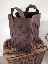 X Large Brown Woven Felt Storage Basket, Toys, Blankets, Wood, Laundry