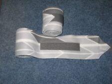 New set of 2 light/dark grey chevron horse polo wraps (horse/pony leg wraps)
