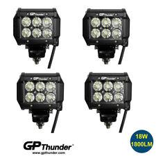 4pcs 4INCH 18W LED WORK LIGHT BAR DRIVING FLOOD BEAM SUV ATV JEEP TRUCK