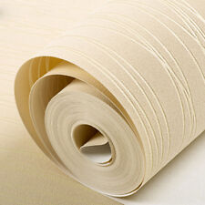 10m Simple Modern Home Embossed Textured Lines Wallpaper Roll Striped Wall Paper Yellow