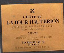 GRAVES GCC VIEILLE ETIQUETTE CHATEAU LA TOUR HAUT BRION 1975     §02/01/16§