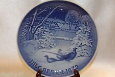 "Bing Grondahl Blue 1970 Jule After Annual Collector 7"" Plate Christmas Pheasants"