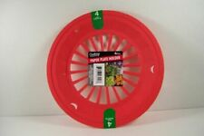 8 Red Reusable Paper Plate Holder Bbq's Camping Parties RV Pool Cookouts Plastic