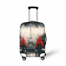 Paris Style Luggage Covers Suitcase Trolley Cover Eiffel Tower Painting Gray