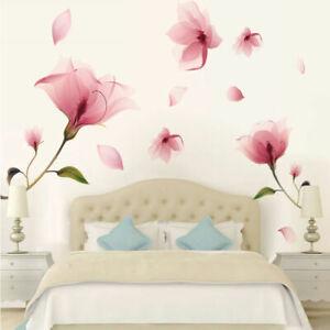 Flower Removable Bedroom Art Mural Vinyl Wall Home Decor DIY Decal R6C1