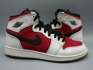 Nike Air Jordan 1 Mid Chicago Red Toe 575441-123 size 7Y RARE WHITE/RED