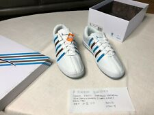 KSWISS GARYVEE Shoes White with Blue and Brown Stripes, Men's Size 10 1/2