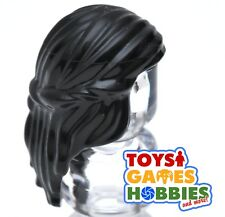 *NEW* LEGO 1x Minifig Wig Hair -Black- Princess Hair - Female wavy braid