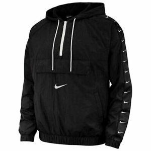 Men's Nike Swoosh Woven Logo Jacket Windbreaker CV9167 010 Size S~2XL