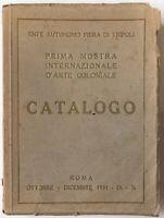 Futurismo Tripoli Roma Ia Mostra Int. Arte Coloniale 1931 Marinetti Balla Depero