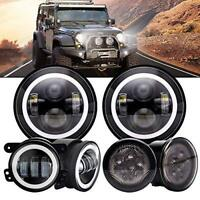 "For Jeep JK 2007-2017 7""inch LED Headlights, Fog Lights, Turn Signal"