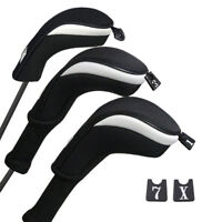 Mesh Golf Woods Head Cover&Hybrid UT Fairway Headcover For Extra Club Protection