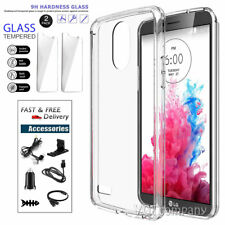 Acrylic Clear Shockproof Impact Hybrid Phone Case Cover with Screen Protectors