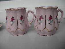 2 CZECHOSLOVAKIAN  ORIGINAL CARLSBAD PINK PORCELAIN TEA CUPS*