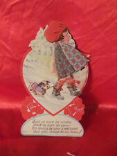 Antique Valentines Day Card Winter Canada
