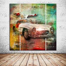 Mercedes Top Kunstdruck Leinwandbild + 60x60 cm + tolle GESCHENKIDEE/Wanddeko