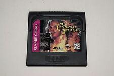 Cutthroat Island Sega Game Gear Video Game Cart