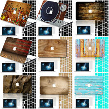 Laptop Accessories Natural Wood Drawing Hard Rubberized Case Cover For Macbook