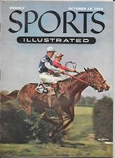 Sports Illustrated 1954 BELMONT PARK New York STEEPLECHASE Horse Racing NEWSTAND