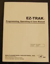 Southwestern Industries Bridgeport Ez Trak Controller Program Amp Operation Manual