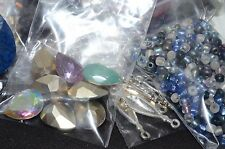 Huge Lot of Assorted Mixed Jewelry Making Supplies 25 Bags of Findings and Beads