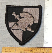 West Point Cadet Shoulder Insignia, Gray and Black, Hook-and-Loop Back