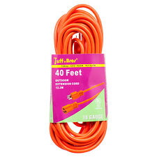 Extension Cord 40 Feet Indoor Outdoor UL listed Orange Power Cord 16 Gauge Cable