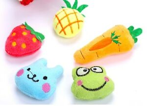 (CT006) Cat Kitten Brightly Coloured Various Designs Soft Catnip Toy Pack of 4