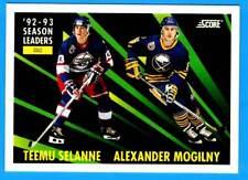 1993-94 Score TEEMU SELANNE / Alexander Mogilny (ex-mt)  #477 Jets / Sabres