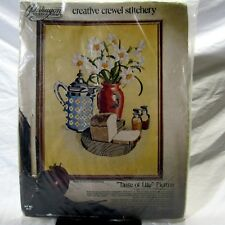 Paragon Embroidery Kit Crewel Stitchery Taste of Life Picture Carol Don Henning
