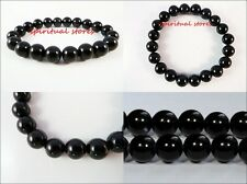 Natural Black Obsidian stone bracelet - A strongly protective stone