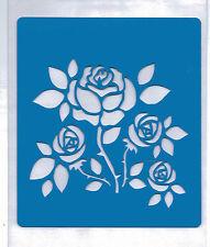 Plastic/PVC/PP/Stencil/Rose/Roses/Multi/Design/Bendy/REDUCED