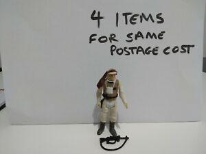 Vintage Star Wars NICE SLIGHT WEAR Luke Skywalker Hoth Figure Complete Repro Gun
