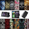 For Samsung Galaxy J3 Prime | Express Prime 2 (2017) Wallet Case - Skulls